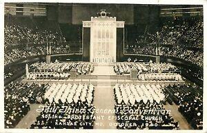 53rd General Convention, Protestant Episcopal Church, Kansas City MO RPPC 1940