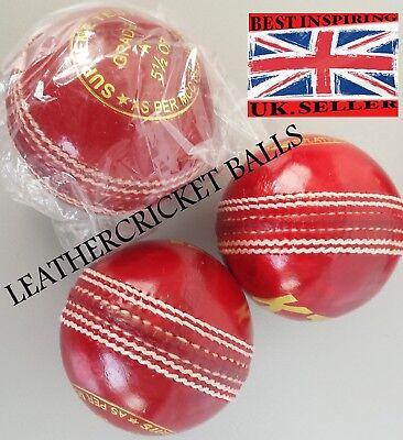 Test Match Quality Leather Cricket Ball Senior 5.5oz Professional 50 Ov Practice