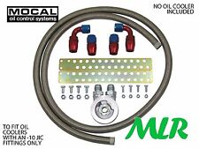 FOCUS MK1 MK2 ST RS MOCAL -10 S/S BRAIDED HOSE OIL COOLER FITTING KIT ZQ-3/4UNF