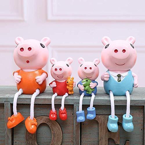4 teiliges Figurenset der Familie Wutz, Peppa Wutz, Schorsch, Mama und Papa