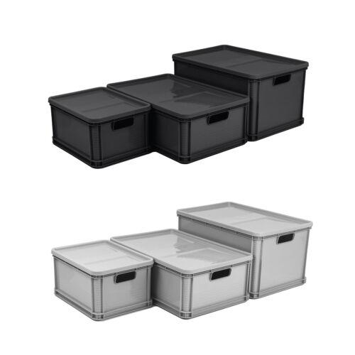 Eurobox Stapelbox Lagerkiste Transportbox Deckel Grau Graphit Box 20L 45L 64L