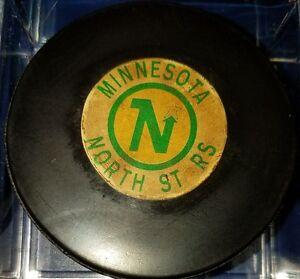 Vintage NHL Converse Art Ross Minnesota North Stars Hockey Puck CCM USA OLD GAME