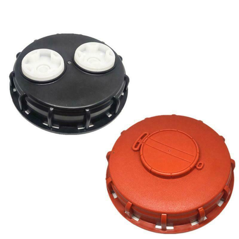 Plastic IBC Tank Cap Cover Lid Bung Adapter with Vent Plug Ball Valve Leakproof