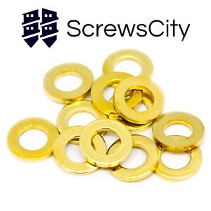 SOLID-BRASS-FLAT-WASHERS-TO-FIT-M2-M3-M4-M5-M6-FORM-A-TYPE