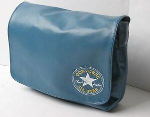 bf8e843fd7 Image is loading Converse-Flap-Messenger-Vintage-PU-Bag-Blue-Cons