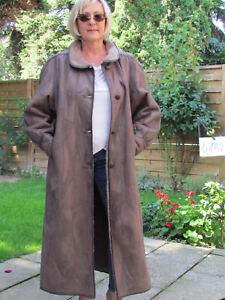 WOMENS-XXL-XXXL-Shearling-Lambskin-Sheepskin-Baby-Lamb-Coat-Jacket-Ladies-D4104