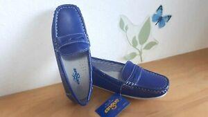 545a03bd6bc292 Caricamento dell'immagine in corso Scarpe-bimbo-mocassino -blu-azzurro-cerimonia-elegante-matrimonio-