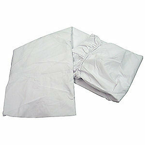 R & R TEXTILE Bed Sheets,Full XXL,81x115 In.,PK12, X32011, White