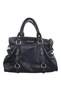 MIU Miu Vitello schwarz weiches Leder Handtasche (M)
