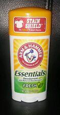 Arm and Hammer Essentials Deodorants Full size 2.5 oz.
