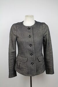 Burberry-Grau-Fischgraeten-Jacke-Groesse-Groesse-6-UK-38-It