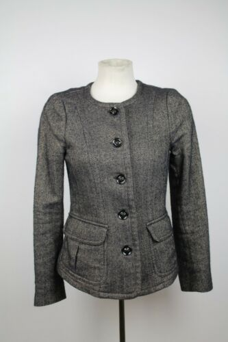 Uk 6 Herringbone 38 It Størrelse Jacket Burberry Grey vaqUBB