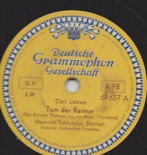 Heinrich Schlusnus  singt Carl Loewe Balladen : Die Uhr + Tom der Reimer