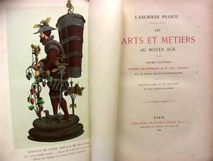 1887-ARTS-METIERS-MOYEN-AGE-181GRAVURES-CERAMIQUE-HORLOGERIE-SELLERIE-ORFEVRERIE