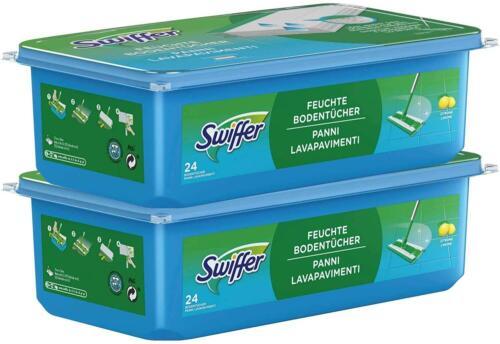 Swiffer Feuchte Bodentücher Nachfüllpackung Zitrusduft 48 Tücher 2er Pack