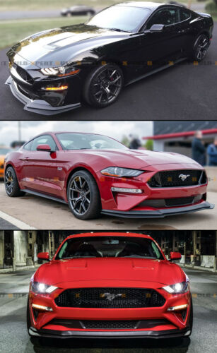 FOR 2018-2019 MUSTANG GT PERFORMANCE PACK STYLE ADD-ON FRONT BUMPER LIP SPLITTER