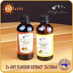 2x100ml-Chef-039-s-Choice-Pure-Food-Flavour-Extracts-All-Natural-Ingredients-Essence