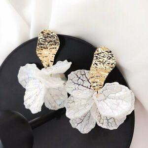 Fashion-Women-Shell-Big-Flower-Drop-Dangle-Earrings-Ear-Stud-Jewelry-Gift-New