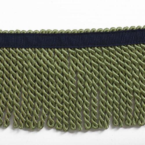 $4//yd Sage flecos con cinta azul marino