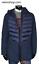 miniatuur 3 - Piumino Uomo Lungo Cappotto Invernale Parka Blu Con Cappuccio  VELONSHOP