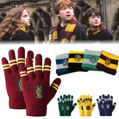 Harry Potter Scarf Hat Gloves Tie Gryffindor Hufflepuff Ravenclaw Slytherin UK
