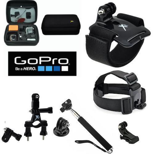Kit de accesorios y todos necesitan U Estuche duro para GOPRO HERO 5 Montaje De La Motocicleta