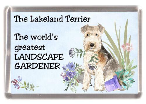 """Lakeland Terrier Dog Fridge Magnet /""""Greatest Landscape Gardener/"""" by Starprint"""