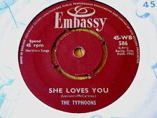 "THE TYPHOONS - SHE LOVES YOU  7"" VINYL"
