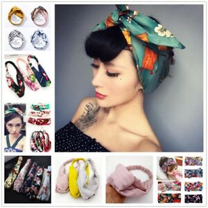Summer-Womens-Headband-Cute-Bowknot-Hair-Bands-Wrap-Fabric-Headwrap-Accessories