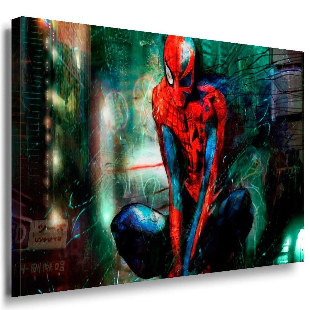 Spider Man Leinwandbild AK Art Bilder Mehrfarbig Wandbild TOP GESCHENK XXL
