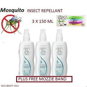 3-x-Avon-Insect-Repellent-Skin-So-Soft-Dry-Oil-Spray-Citronella-Oil-FREE-BAND