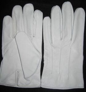 Men-039-s-Dress-Gloves-in-White-Kidskin-Leather
