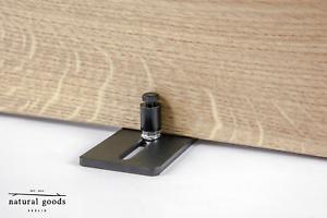 """SCHIEBETÜR-BODENFÜHRUNG /""""Slider/""""Barn Door Hardware SCHWARZ Design Stay Roller"""