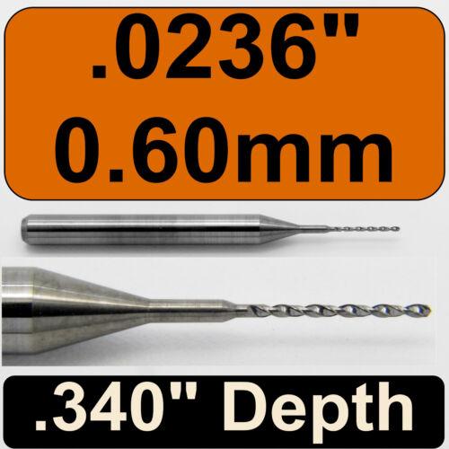""".060mm .0236/"""" #73 Diameter Solid Carbide Drill 1//8/"""" Shank Kyocera #105-0236.340"""