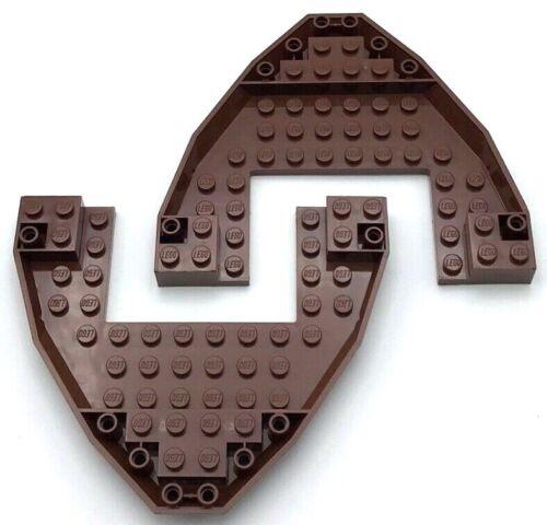 Lego 2 New Reddish Brown Boat Bow Brick 10 x 12 x 1 Open Pieces