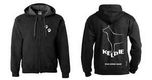 Exclusive Dogeria Design Honesty Kelpie Full Zipped Dog Breed Hoodie Hoodies & Sweatshirts Clothing, Shoes & Accessories