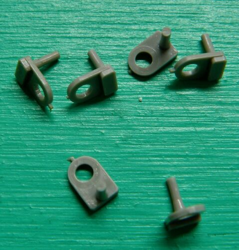 6 C130 Rear Guide Pins For The Atlas Standard 1200 Chassis NOS