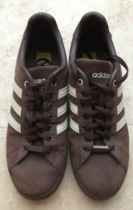 Details zu ADIDAS VIBETOUCH BROWN SUEDE TRAINER SIZE UK 9.5 USED