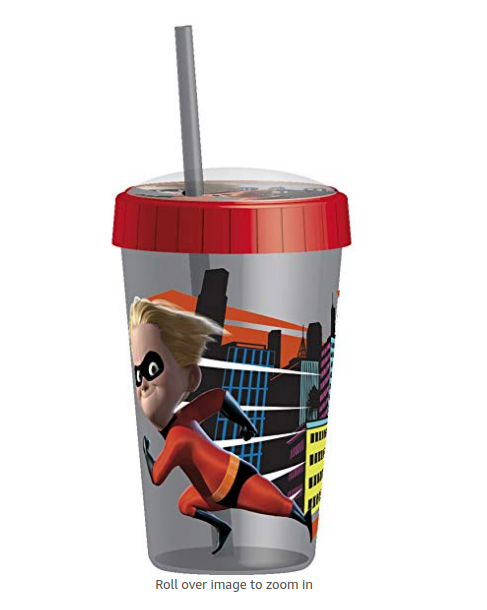 8.5oz by QT Kids Non Sp Kids Stainless Steel Tumbler Sippy Cup with Lid /& Straw