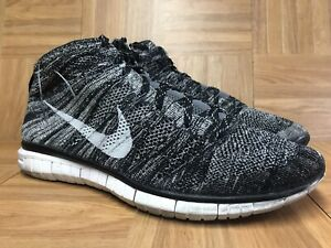 new concept bded5 13c5c Image is loading RARE-Nike-Free-Flyknit-Chukka-OREO-Black-White-