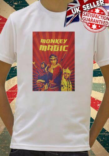Monkey Magic Retro Kung Fu funny cool Kids Boy Girls Unisex Top T-Shirt 728