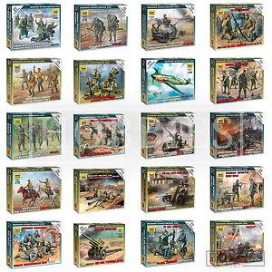 ZVEZDA-figurines-allemand-russe-Sovietique-1-72-WW2-MINIATURES-Infanterie-Recon-Crew