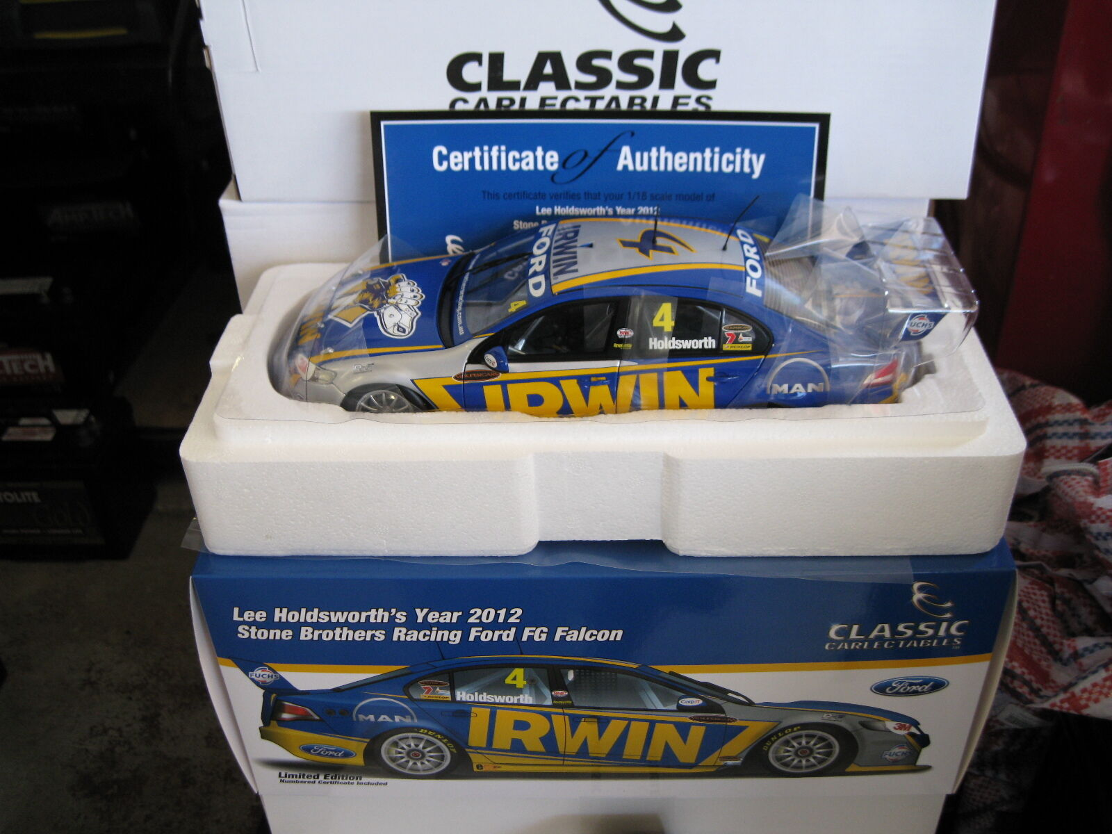 1.18 CLASSIC LEE HOLDSWORTH SBR 2018 FORD FG FALCON V8 SUPERCAR STONE BROTHERS