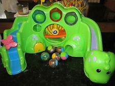 Fisher Price Roll A Rounds 6 Six Balls Drop Roar Dinosaur Set Sounds Noises Toy
