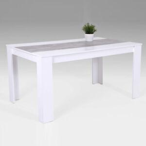K chentisch esstisch lilo tisch esszimmertisch wei betonoptik 140x80 cm ebay - Esszimmertisch betonoptik ...
