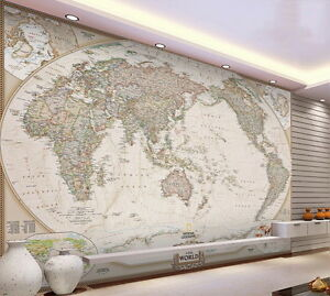 Classic hd business world map 3d wallpaper wall decals art print image is loading classic hd business world map 3d wallpaper wall gumiabroncs Gallery
