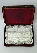 Excelente Victoriano Plata maciza caja de rapé Nathaniel Mills 1847