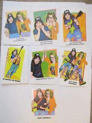 """100% Wahr Snl """" Wayne's World 90's Vintage 7er Set Neue Grußkarten - Mint Zustand Neueste Mode"""
