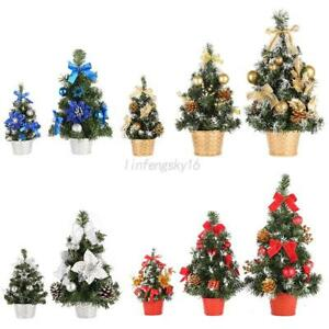 image is loading mini christmas tree decor desk table festival party - Mini Christmas Tree Ornaments