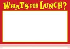 Whats For Lunch Display Sale Price Signs 25 Lot 11 X 7